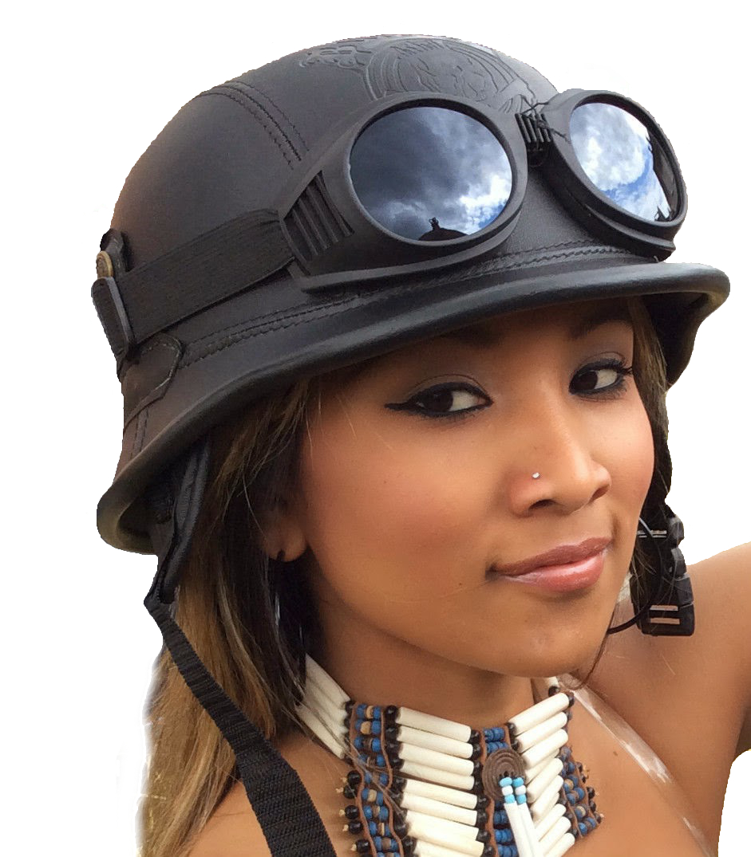 chopper biker helm gr l schwarz logo bulzeye wehrmacht. Black Bedroom Furniture Sets. Home Design Ideas